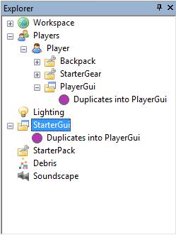 PlayerGui StarterGui