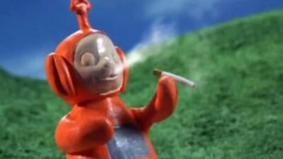 Robot chicken smoking teletubbies