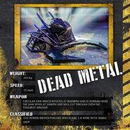 Dead Metal stat card