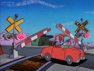 Railroad Crossing Cartoon Rocko's Modern Life Driving Mrs Wolfe 03