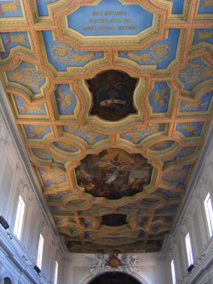Sant'Anastasia, Rome - ceiling