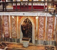 Image of St. John the Baptist in the Confessio next to the high altar
