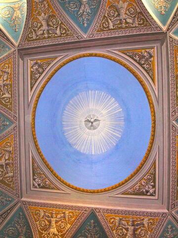 File:2011 Ambrogio, sacristy ceiling.jpg