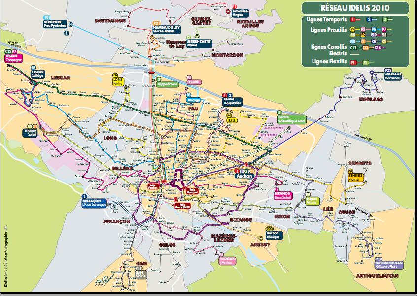 Carte Michelin Ville De Pau