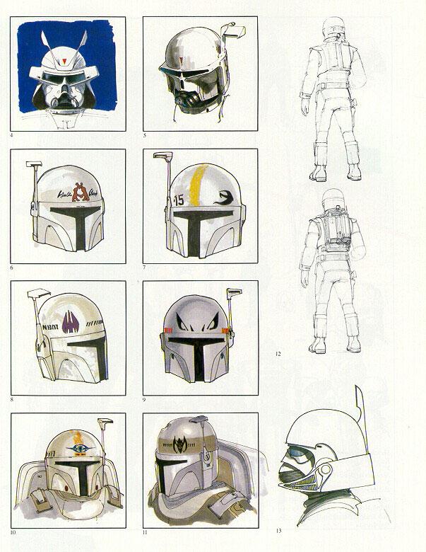 Эскизы шлема Бобы