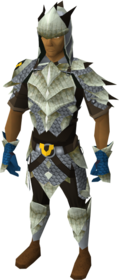 Armadyl dragonhide blessed set equipped (male)