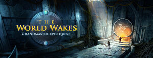The World Wakes banner