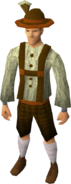 Lederhosen clothing (male) equipped