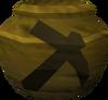 Fragile mining urn (unf) detail
