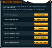 Travel to Freneskae interface