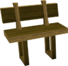 Wooden bench built