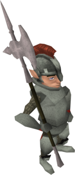 Gnome guard halberd