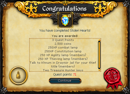 Stolen Hearts reward