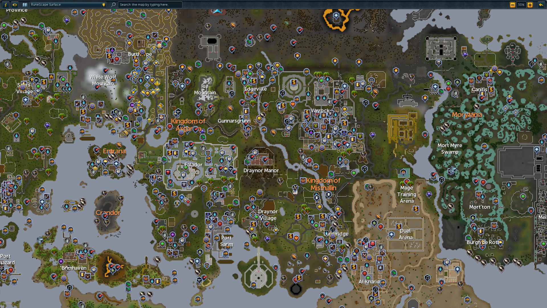 World map RuneScape Wiki Fandom powered by Wikia