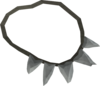 Shark's tooth necklace detail