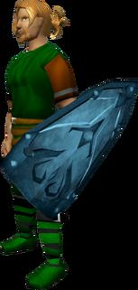 Rune kiteshield equipped