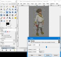 GIMP - rotate tool example2