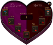Sending valentine heart