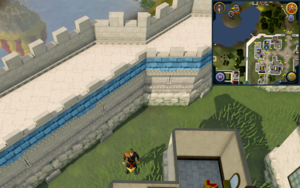 Scan clue Falador north-west of hairdresser