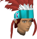 Feather headdress (charged) (red) chathead