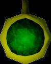 Emerald amulet (unstrung) detail
