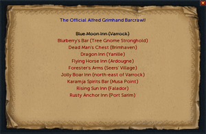 Barcrawl card interface