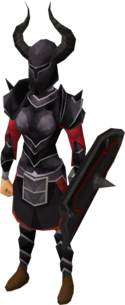 Black armour equipped (female)