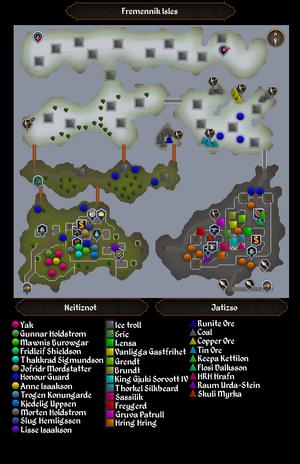 Fremennik Isles map