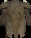 Yak-hide armour (top) detail