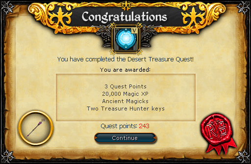 Desert Treasure reward