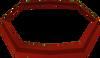 Red headband detail