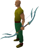 Crystal bow equipped