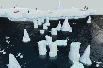 Penguin hunting area