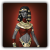 Pharaoh's outfit icon (female)