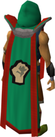 Retro strength cape (t) equipped