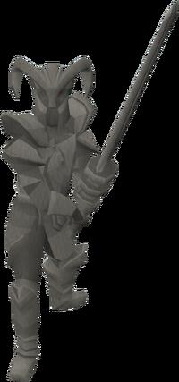 Basic knight statue
