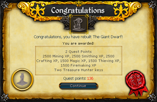 The Giant Dwarf reward