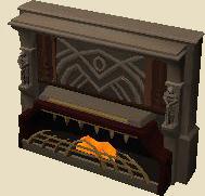 Brazen fireplace