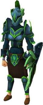 Guthix armour set (sk) equipped