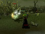 Killing a ghast