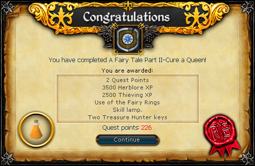 Fairy Tale II - Cure a Queen reward