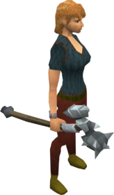 Gorgonite maul equipped
