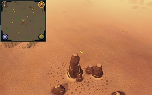 Scan clue Kharidian Desert north of desert lizards