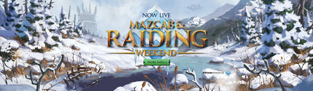 Mazcab and Raids Winter Weekend head banner