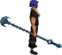 Rune spear equipped