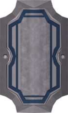 White sq shield detail