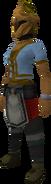 Rune heraldic helm (Money) equipped