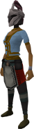 Rune heraldic helm (HAM) equipped