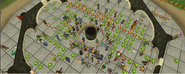 Cabbage bombing of the G.E. on world 19 (ire festival)