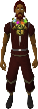 Radiant alchemist's amulet equipped